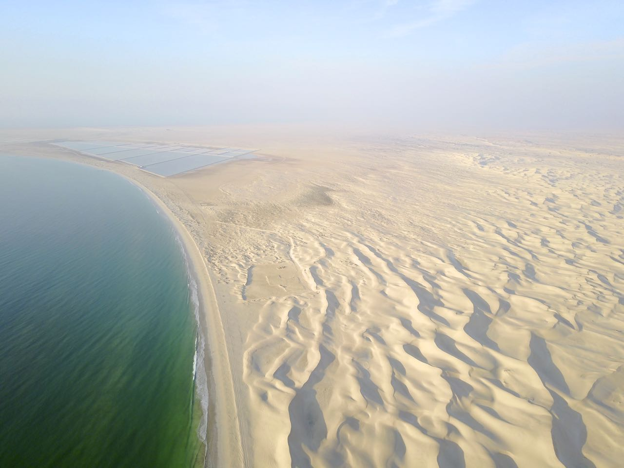 Drone Pic of Sugar Dunes in Oman