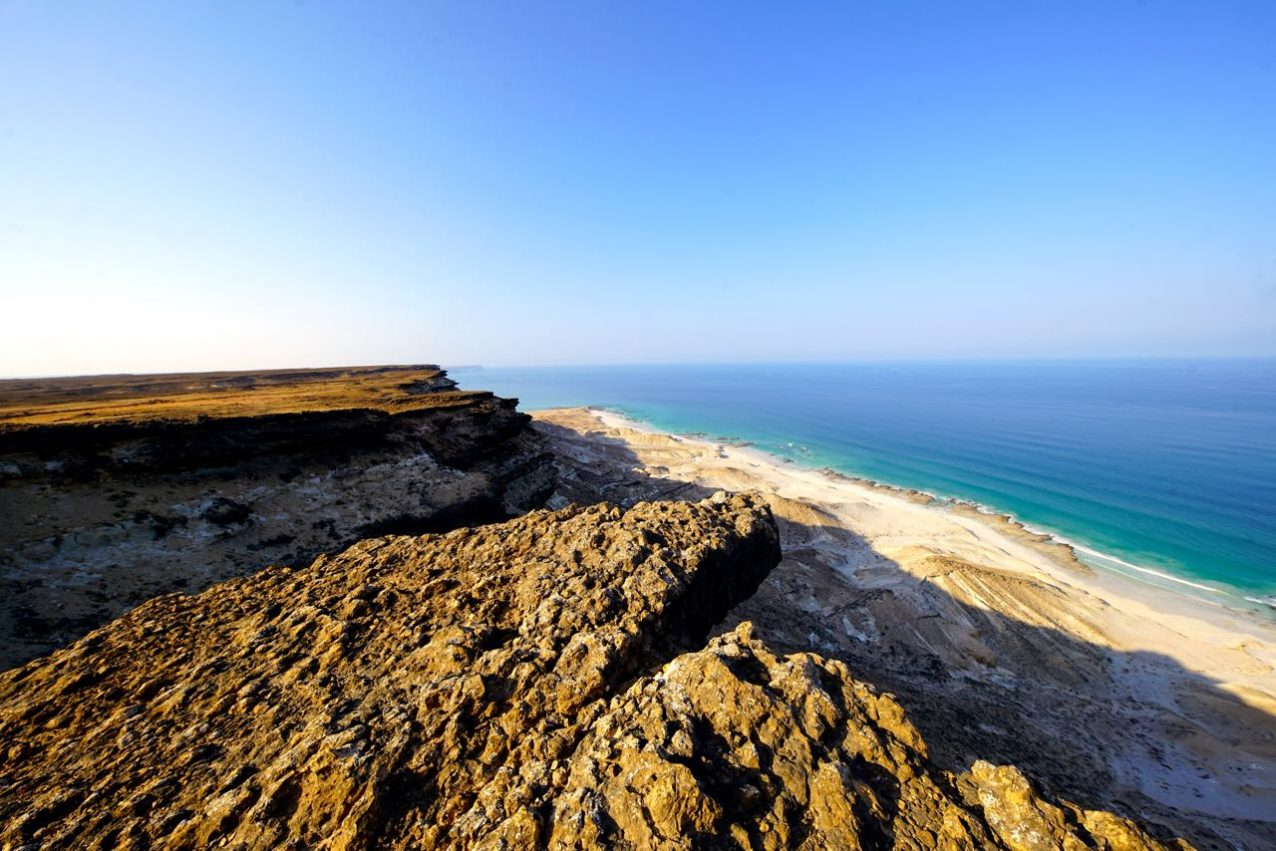 Cliffs and Beach in Oman