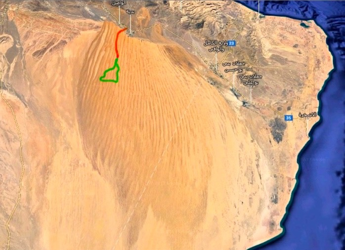 Map Oman Dromeda & off-road Tour