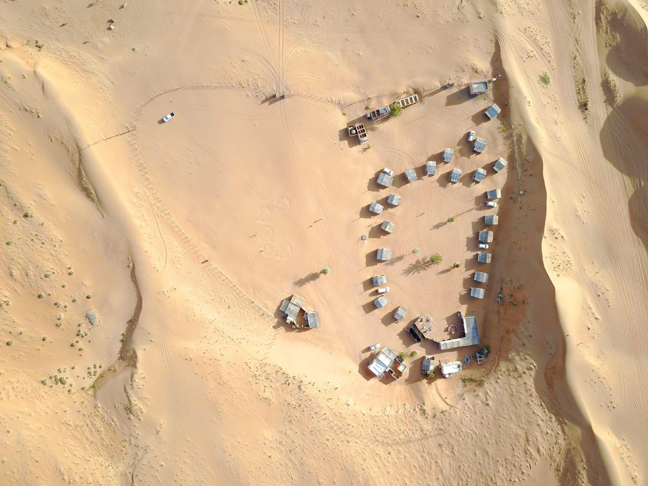 Luftaufnahme Nomadic Desert Camp in Oman