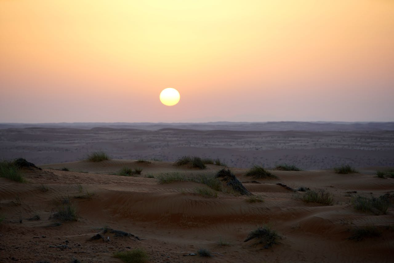 Sunset in Oman