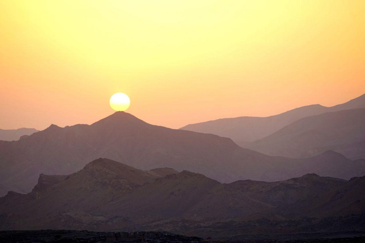 Hajar mountain range Oman